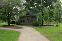 Concord, Massachusetts. Old Manse In Minute Man National Historic Park, Once Home To Noted American Authors Ralph Waldo Emerson And Nathaniel Hawthorne