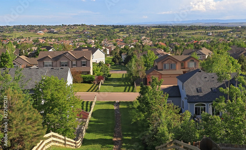 Colorado Living. Centennial, Colorado - Denver Metro Area Residential Panorama