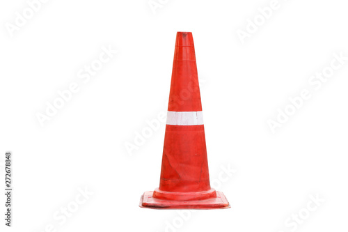 Fotomural Road bollard traffic cone isolated on white background