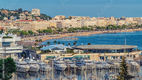 Canvas Prints Ship City of Cannes in summer on the French Riviera