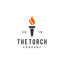 The Torch Icon Vector Logo Design