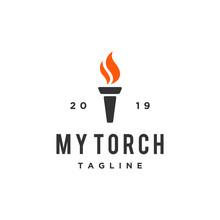 The Torch Icon Vector Logo Design