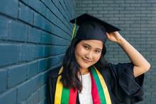 Portrait Of Girl Graduating