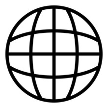 Globalization Icon. Outline Gl...