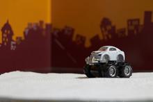 Big Foot Car Toy On Blur City ...