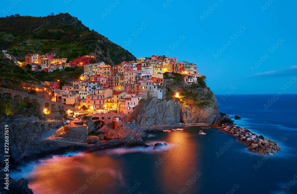 Fototapety, obrazy: Manarola - One of five cities in cinque terre, Italy