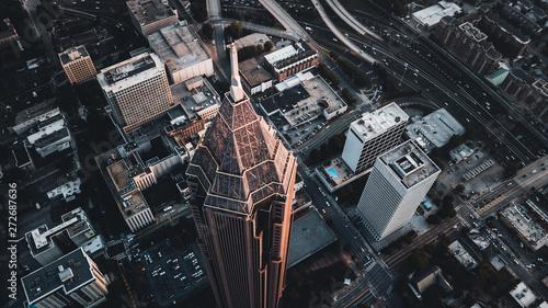 Fotografía  aerial view of city