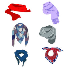 Set Modern Scarf  Exclusive Knots.