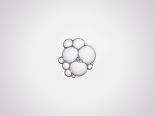 Group Of Clear Bubbles Stuck T...