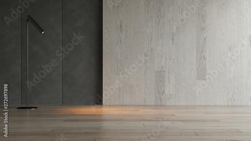 Fotomural  Interior empty room 3D rendering