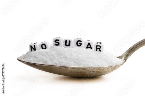 Pinturas sobre lienzo  Spoon full of sugar substitute stevia. No sugar concept