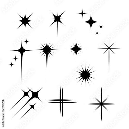 Obraz Black flashes vector illustration on white background - fototapety do salonu