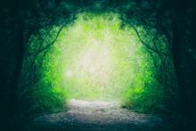 Blurry Magical Yellow Green Fa...