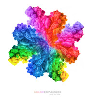 Color Explosion. Ink In Water ...