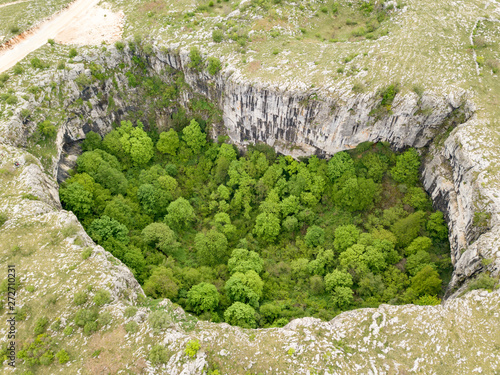 Close to Duvno Polje (Duvanjsko polje) of western Bosnia and Herzegovina is a se Fototapeta