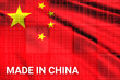 canvas print picture - Trade war , Made in CHINA smart logistic concept. Shipping Cargo business Container import and export company for Logistics and Transportation. Factory move from CHINA.