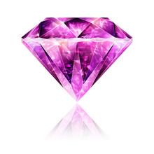 Bright Glossy Pink Gemstone Ruby