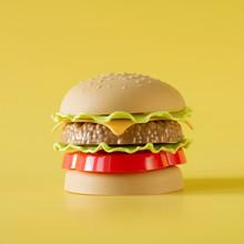 Plastic Burger, Salad, Tomato,...