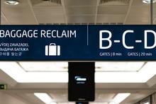 Baggage Reclaim Information Board Inside Prague International Airport - April 2019