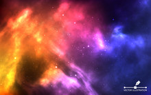 Space Background. Realistic Co...