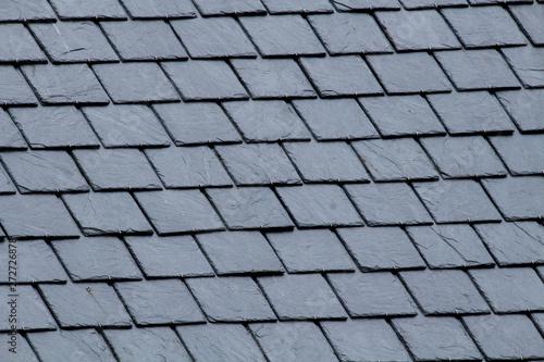 Valokuva New slate roof, slate texture, perfect shape