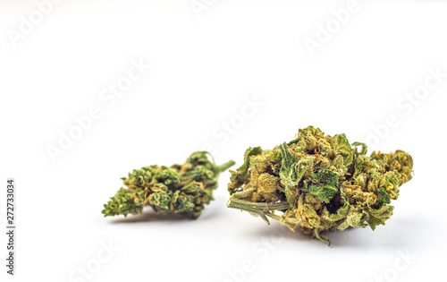 Photo Close up of Cannabis flower buds isolated