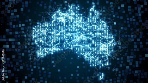 Fényképezés Australia circuit board nbn broadband internet network infrastructure - Conceptu