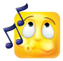 A Whistling Emoji Or Emoticon ...