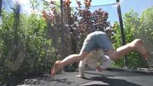 Active Girl Doing Tricks Jumpi...