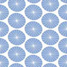 Vector Hand Drawn Seamless Pattern With Fans. Japanese Traditional Surface Design.