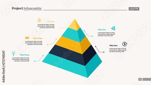 Five level pyramid chart Canvas Print