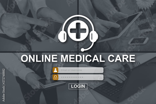 Canvas Prints Countryside Concept of online medical care