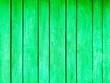 Leinwandbild Motiv Wooden boards painted on the wall in green