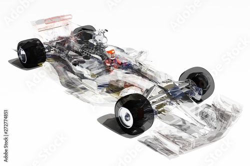 Photo sur Toile F1 Transparent model cars.