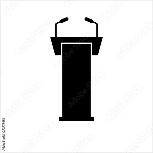 Fotomural Podium Icon, Dias Icon, Tribune Icon