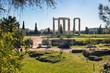Leinwandbild Motiv Ruins of ancient temple of Zeus, Athens - Greece