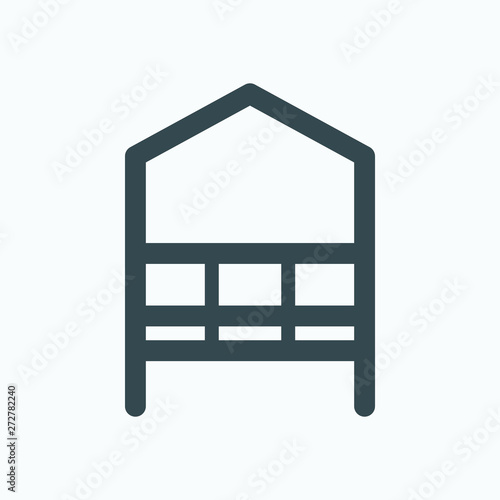 Fotografiet Arbour isolated icon, garden arbour linear vector icon