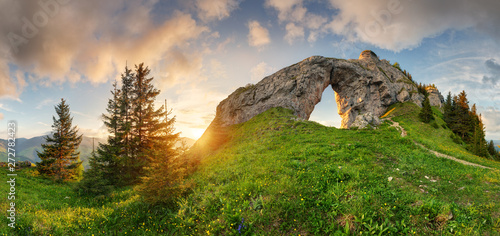 Mountain landscape with big...