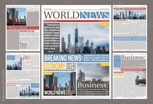 Photo  Daily Newspaper Template