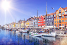 Panoramic View At Nyhavn On A ...