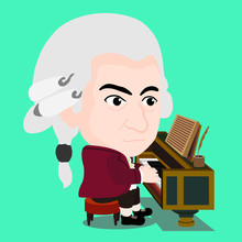 Wolfgang Amadeus Mozart Playin...
