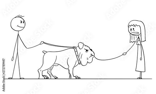 Vector Cartoon Stick Figure Drawing Conceptual Illustration Of Man