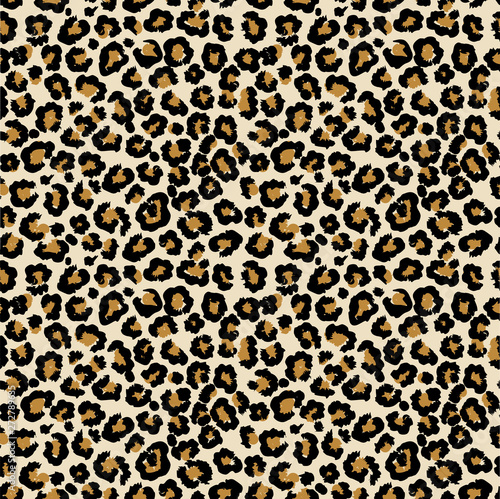 Leopard vector seamless pattern Wallpaper Mural