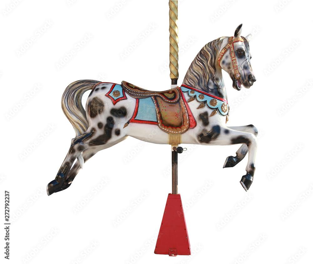 Fototapeta Cheval de bois d'un carrousel