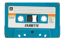 Old Cassette For Tape Recorder. A Symbol Of 80s, 90s Period