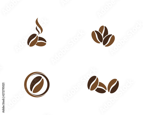 vector coffee beans template vector icon illustration Fototapeta