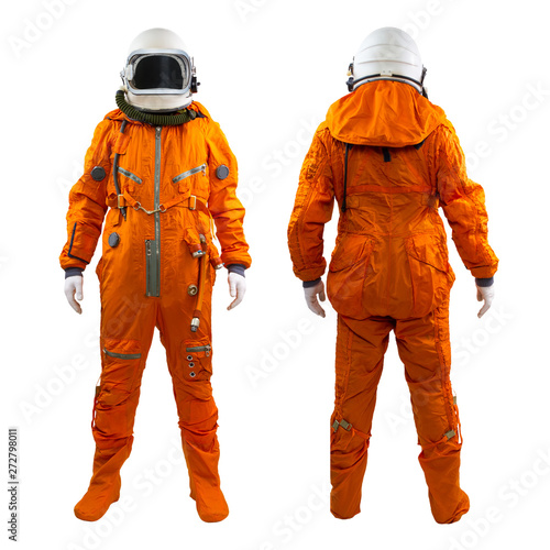 Fotografía Set of two astronauts isolated on a white background