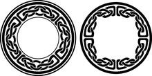 Round Celtic Style Frame, Isol...