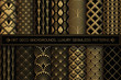 Art Deco Patterns. Seamless black and gold backgrounds.