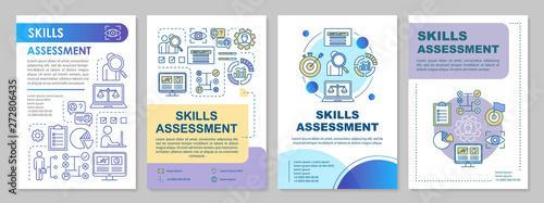 Skills assessment brochure template layout Canvas Print